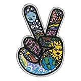 Dan Morris - Celestial Peace Hand Fingers - Embroidered Patch (Color: Blue, Yellow and Green)