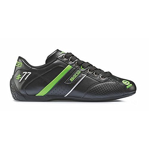 sparco-s00120541nrvd-time-77-zapatillas-color-verde-negro-talla-41