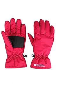 Mountain Warehouse Womens Snowproof Winter Warm Snowboard Skiing Fleece Adjustable Cuffs Ski Gloves Bright Pink Small