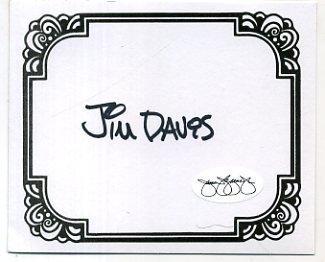 Jim Davis Garfield Autho Signed Autograph Bookplate JSA - Memorabilia