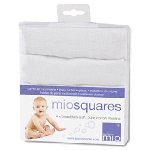 Bambino Mio Miosquares (carrés de mousseline) Blanc