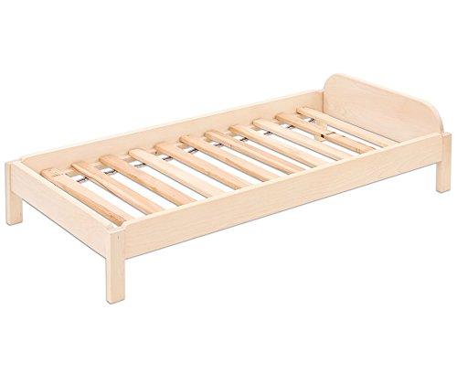 Nomiland-Stapelbare-Liege-Bett-belastbar-bis-60-kg-Ahorn-Massivholz-uerst-stabil-und-inklusive-Lattenrost