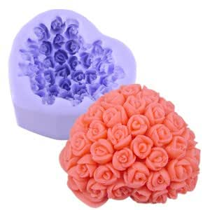 Bouquets Silicone Icing Mould Moulding Cake Cupcake Flower ...