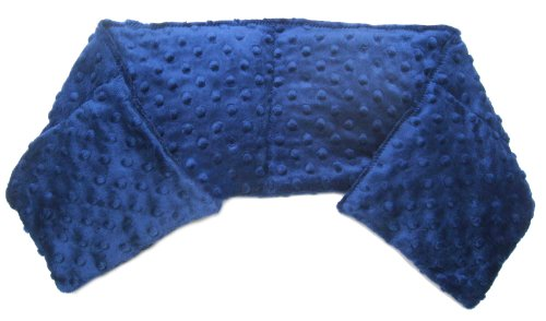 Flaxseed Pillow - Long Neck Pillow (Midnight Blue)