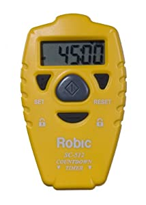 Robic SC-512 Handheld Countdown Timer (Yellow)