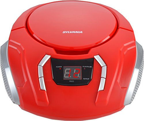 Sylvania Portable CD Boombox with AM/FM Radio (Champagne)