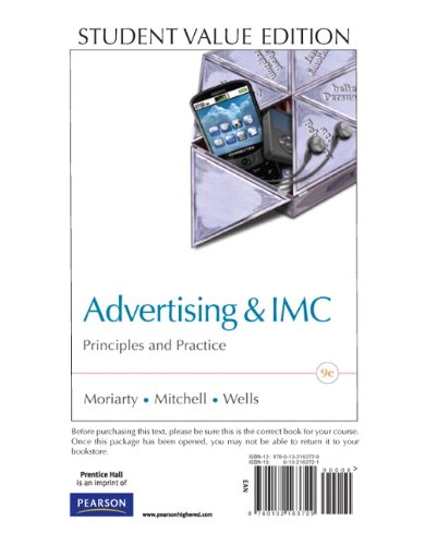 Advertising & IMC: Principles and Practice, Student...
