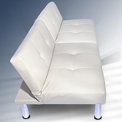 Hochwertige Schlafcouch Lounge Schlafsofa in weiss ca. 177x87x64cm