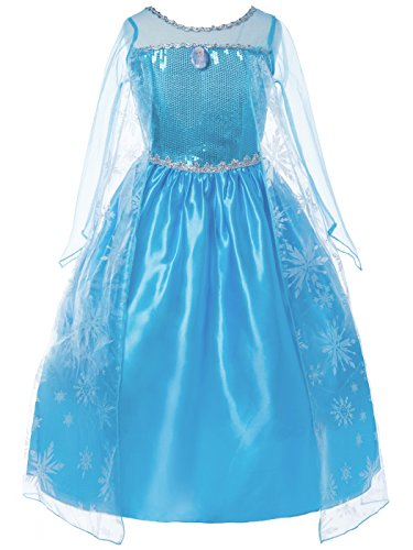 DressForLess Inspired Elsa Costume Ice Princess Dress