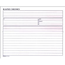 Adams Rapid Memo Book, 8.25 x 8.5 Inch, 2-Part, Carbonless, 50 Sets, 1 Memo per Page, White and Canary (SC1158)