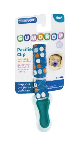 Tomy The First Years Gumdrop Pacifier Clip - 0M+ Ea (Pack Of 16) front-1030598