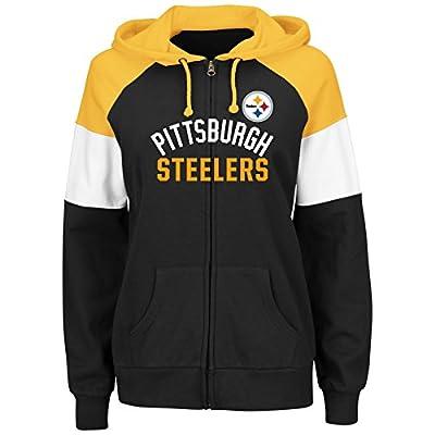 Pittsburgh Steelers Women's Hot Route Black Zip Up Hooded Sweatshirt