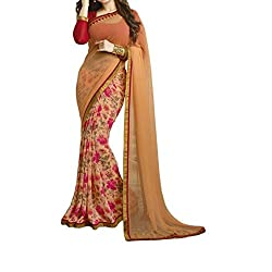 Morpankh enterprise Orange Georgette Saree ( asha takiya orenge )