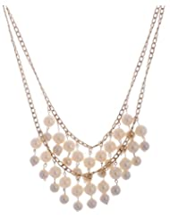 Amaira Jewels Gold Plated Multi-Strand Necklace For Women - B0133GA24Q