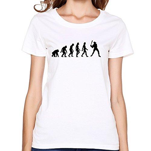 Zhitian Women'S Evolution Baseball T-Shirt - S White