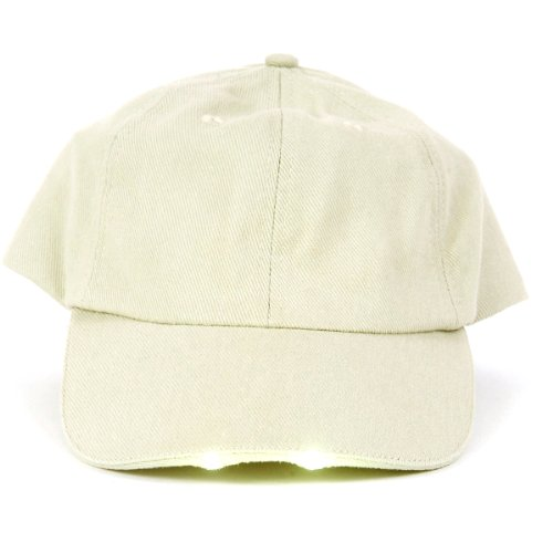 Caplight Hands-Free Khaki Dual Led Flashlight Cap