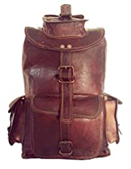 Digital Rajasthan Real Genuine Leather Rucksack Traditionally Handmade (DR004.1AC)