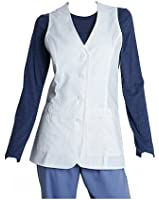 Barco Medical Uniforms Prima Women's Missy Fit 3 Pocket White Vest