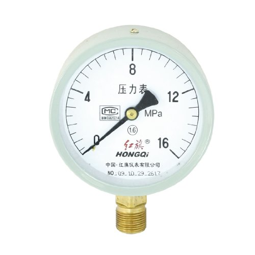 Horizontal Mount 20Mm Male Thread Water Air Pressure Gauge 0-16Mpa front-967666