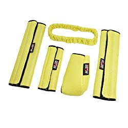 Banggood 5 in 1 Yellow Auto Car Handbrake Wing Mirror Seatbelt Gearshift Cover Set
