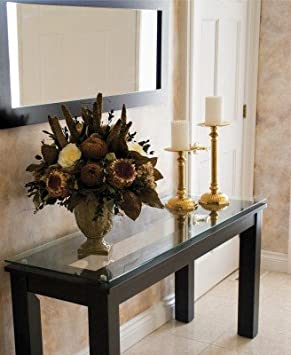 Plateau SL Series Clear Glass Console Table