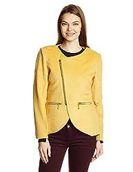 Gorgziapaul Women's Casual Jacket (AW15SCGP03_Yellow_XXL)