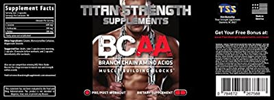Top BCAA Branched Chain Amino Acids - 180 High Strength Capsules for Lean Muscle Growth, Rapid Muscle Recovery and Increased Fat Burn - Most potent ratio of L-Leucine, L-Isoleucine & L-Valine available - Made in The USA - Guaranteed results or your money