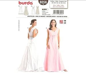 Burda 8056 Pattern Womens Misses 39 Fitted Wedding Dress Brid