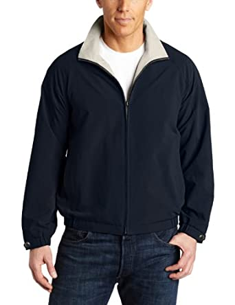 派瑞埃利斯 Perry Ellis Men's Microfiber Blouson 男士休闲夹克棕$28.05