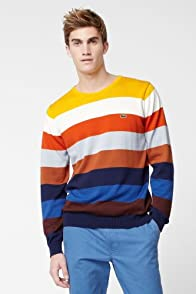 Multi Color Cotton Jersey Sweater