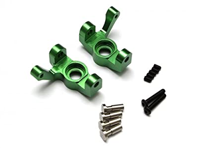 Boom Racing #BRVTH002G Aluminum Steering Knuckles (Spindles) - 1 Pair Green for Vaterra Twin Hammers