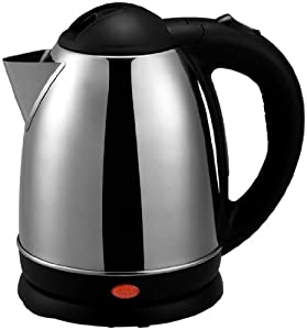 Brentwood KT-1780 Electric Cordless Tea Kettle, 1.5-Liter, Brushed Stainless Steel