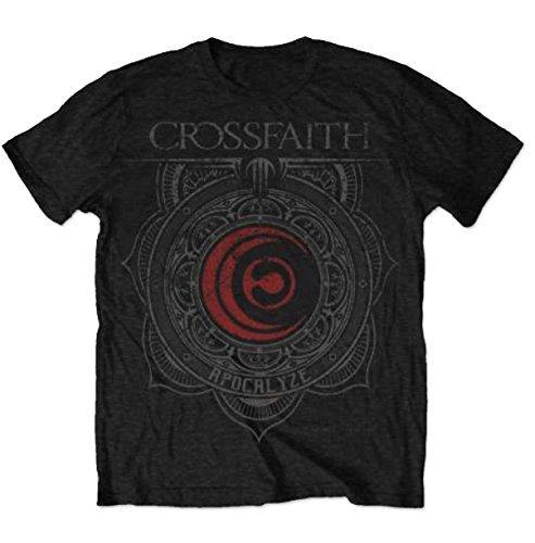 Maglietta con Logo ufficiale CROSSFAITH filigrana di tutte le misure nero XX-Large