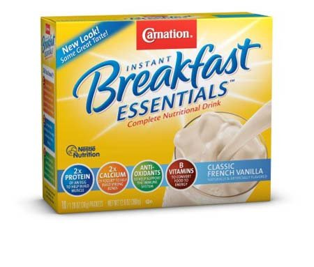 Nestle Carnation Instant Breakfast French Vanilla Nutritional Energy Drink 4 - 11 oz (Pack of 3)