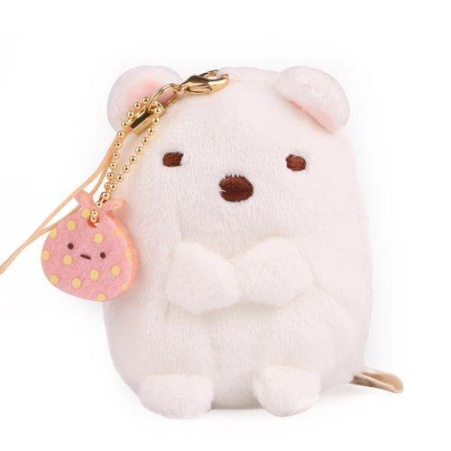 San-X Sumikko Gurashi Plush Doll Cell Phone Strap (White Bear)