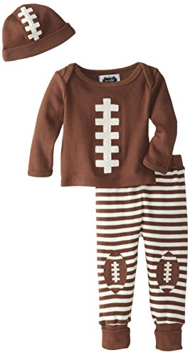Mud Pie Baby-Boys Newborn Football Take Me Home Set, Brown, 0-3 Months