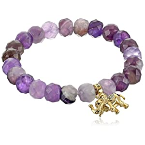 Juicy Couture Genuine Beaded Amethyst Bracelet