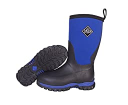Muck Boots Infants/toddlers Rugged II Performance Boot, black/blue, 7 M US Toddler