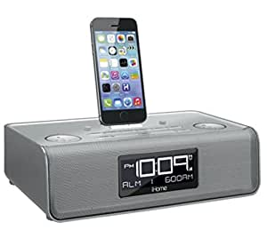 ihome dual charging stereo fm clock radio with lightning connecto. Black Bedroom Furniture Sets. Home Design Ideas