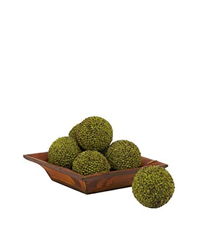 Nearly Natural Set of 6 Berry Balls, Green