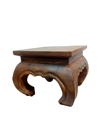 Asian Art Imports Acacia Wood Opium Table  [Natural Wood]