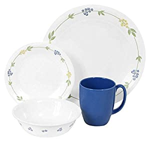 Corelle Livingware 16-Piece Dinnerware Set, Service for 4, Secret Garden