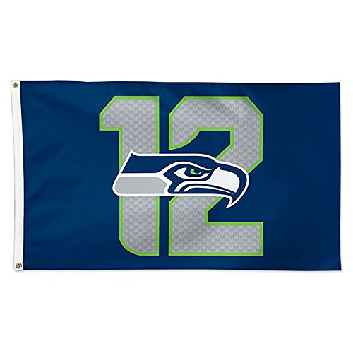 NFL-Seattle-Seahawks-12th-Man-Delux-Flag-3-x-5-Inch-Multicolor
