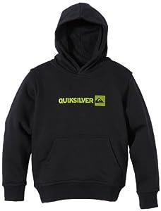 Quiksilver Rib Logo Sweat à capuche garçon Noir FR : 10 ans (Taille Fabricant : T10)