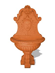 Amedeo Design 1001-14T Asian Wall Fountain, 42 by 72 by 42-Inch, Terra Cotta