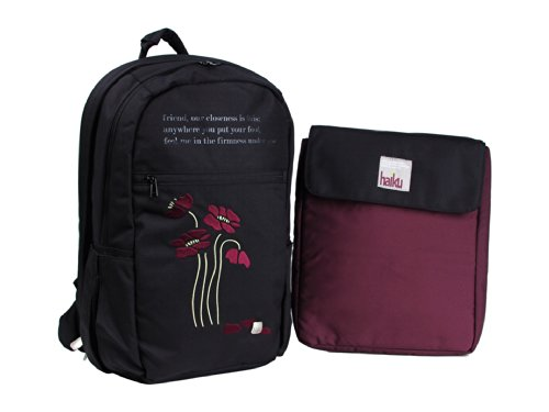 Haiku Rumi Blossom Backpack (Ink/Black, 17 x 11 x 7-Inch)