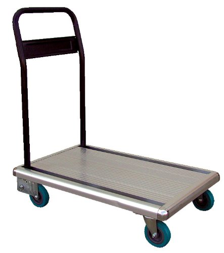 Vestil FAT-1829 Aluminum Platform Truck with Folding Handle, 330 lbs Capacity, 29