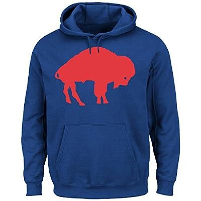 "Buffalo Bills Majestic NFL ""Back in Time"" Men's Throwback Hooded Sweatshirt"