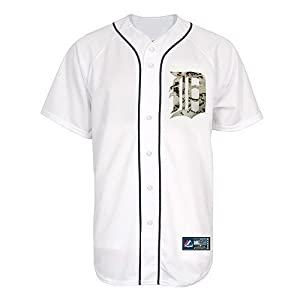 2013 Detroit Tigers Memorial Day Marine Corps Replica Jersey by Majestic Athletic