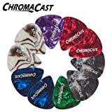ChromaCast CC-CP-MEDIUM-10PK Pearl Celluloid Picks - 10 Pick Pack